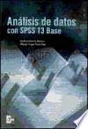 Análisis de datos con SPSS 13 Base
