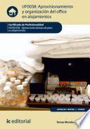 Aprovisionamiento y organización del office en alojamientos. HOTA0108