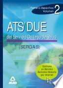 Ats/due Del Servicio Gallego de Salud. Temario Especifico. Volumen Ii Ebook