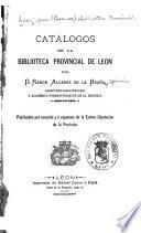 Catálogos de la Biblioteca Provincial de León
