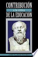 ContribuciÓN A la CrÍTica de la EducaciÓN