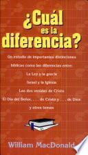 ¿Cuál es la diferencia?