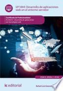 Desarrollo de aplicaciones web en el entorno servidor. IFCD0210