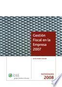 Gestión Fiscal en la Empresa. Sumplemento Novedades 2008