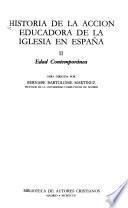 Historia de la acción educadora de la Iglesia en España