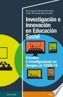 Investigación e innovación en Educación Social