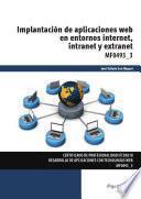 MF0493_3 - Implantación de aplicaciones web en entorno internet, intranet y extranet