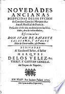 Novedades ancianas deducidas de los sucesos de Concino Concini marques de Ancrè, mariscal de Francia