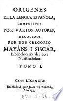 Origenes de la lengua española,