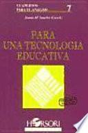 Para una tecnología educativa