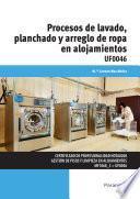 Procesos de lavado, planchado y arreglo de ropa en alojamientos