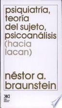 Psiquiatría, teoría del sujeto, psicoanálisis