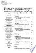 Revista de hispanismo filosófico