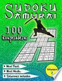Sudoku Samurai Nivel Medio / Nivel Fácil / 100 Rompecabezas / Soluciones Incluidas / Volumen 2