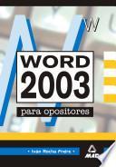 Word 2003 Para Oposiciones Ebook